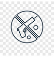no smoking concept linear icon isolated on vector image