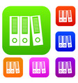 office folders set collection vector image vector image