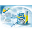 package design template mock up for laundry vector image vector image