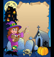 parchment with halloween theme 5 vector image vector image