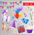party transparent set vector image vector image