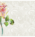 pattern with pink watercolor rose vector image vector image
