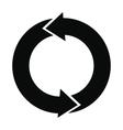 Refresh arrows black simple icon vector image vector image