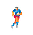 Rugby Player Running Low Polygon vector image vector image