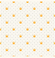 seamless luxury pattern with golden crown vector image vector image