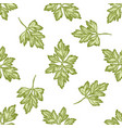 seamless pattern with hand drawn pastel greenery vector image vector image