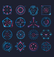 set isolated aim or game crosshair target vector image