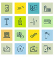 Set of 16 transportation icons includes flight vector image