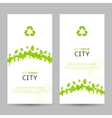 Set of elegant eco banners vector image