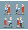 Set of Seniors People vector image