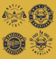 set of skull tribe vector image vector image