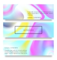 set of watercolor hand drawn marbling vector image vector image