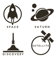 Space emblems vector image vector image