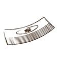 Stacked bill money dollar sketch vector image