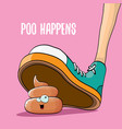 step on poo cartoon comic business situation vector image