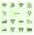 stone icons vector image vector image