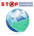 stop 2019-ncov covid-19 coronavirus vector image vector image