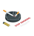 stop smoking cigarettes concept no smoking vector image vector image