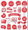 super sale badges and labels collection vector image vector image