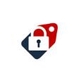 tag security logo icon design vector image