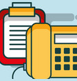 telephone calendar reminder plan office vector image