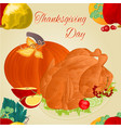 thanksgiving day seamless texture turkey vector image vector image