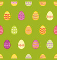 tile pattern with colorful easter eggs on green vector image