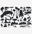 tree silhouette set trees isolated vector image vector image