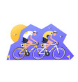 two athlete cyclist racers vector image vector image
