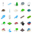 unit icons set cartoon style vector image vector image