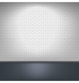 White brick wall and floor vector image vector image