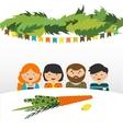 family in the sukkah sukkot Jewish holiday