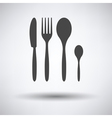 Silverware set icon vector image