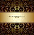 Vintage card royal gold vector image