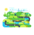 Green energy flat design vector image
