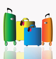 A set of baggage allowance for traveling on a vector image vector image