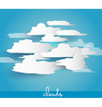 Abstract cloud bubbles with space for your text vector image vector image
