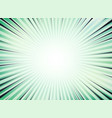 abstract green sun burst comic background vector image vector image