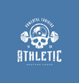 athletic emblem for t-shirt vector image vector image