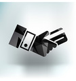 Bank credit card with hand vector image vector image