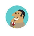 boss face flat icon vector image