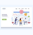business planning website landing page vector image