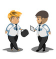 businessmans in black suit vector image vector image