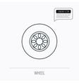Car wheel icon Automobile service sign vector image vector image