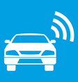 car with wifi sign icon white vector image vector image