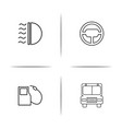 cars and transportation simple linear icon vector image vector image