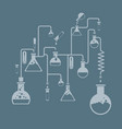 chemistry infographics template showing various vector image