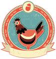 chicken head label vector image vector image