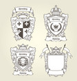 coat arms templates - heraldic shield vector image vector image