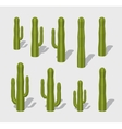 Cube World Cactuses vector image vector image